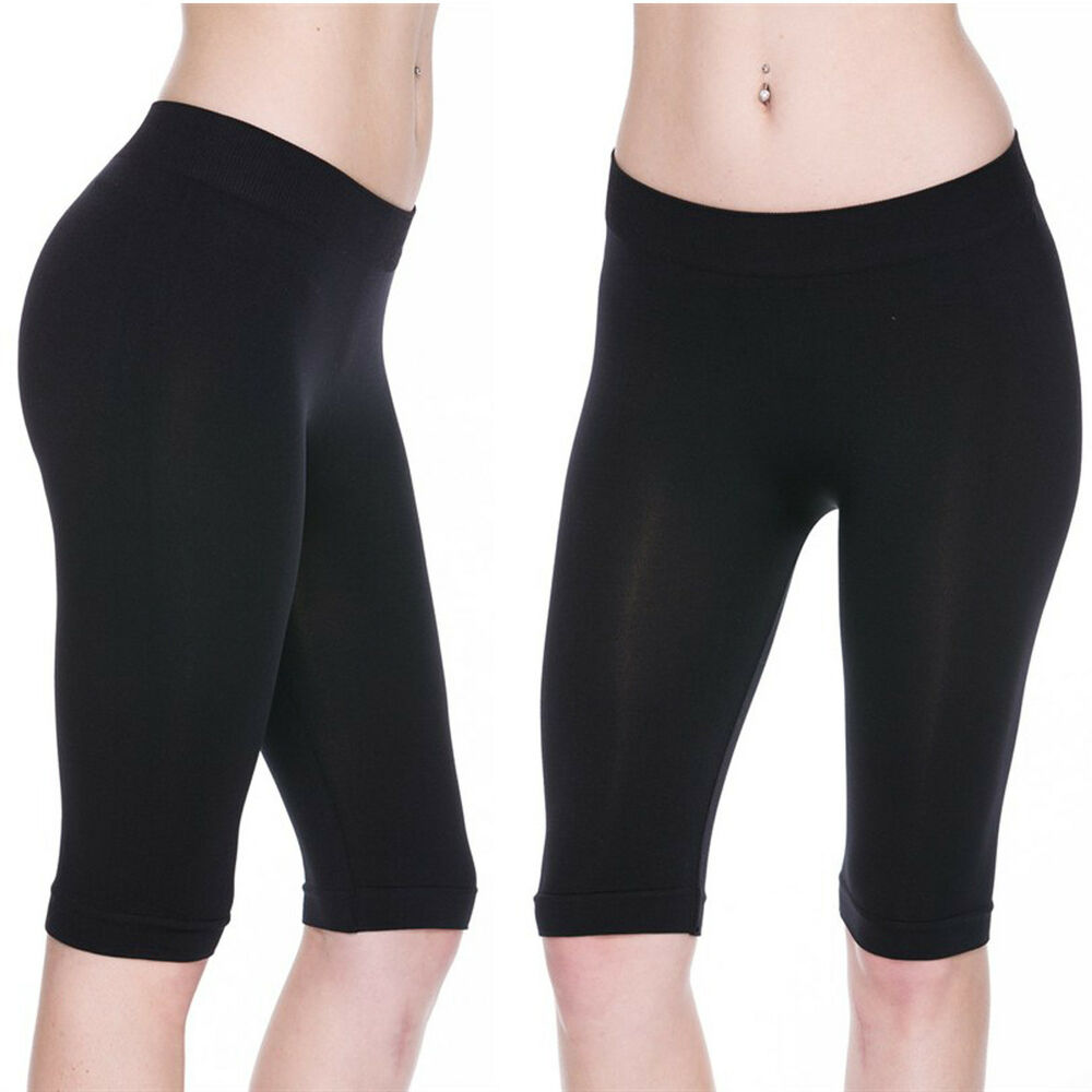 Knee High Biker Shorts Stretch Fitness Yoga Leggings
