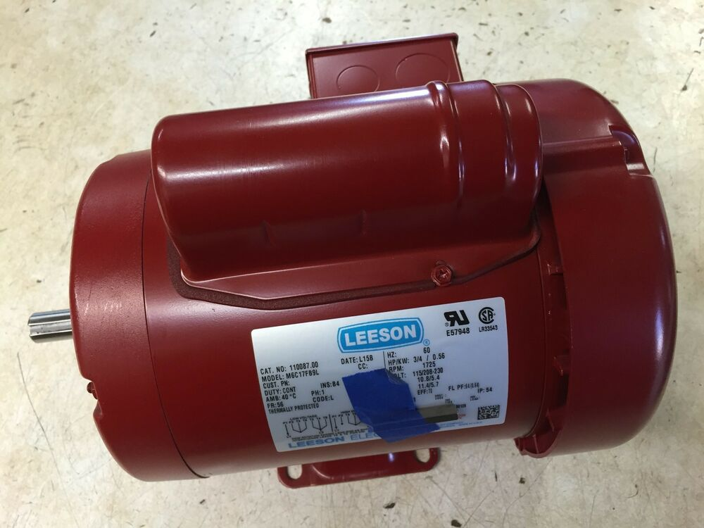 1 2hp leeson electric motor tefc 1725 rpm 56 for 1 2 hp ac motor