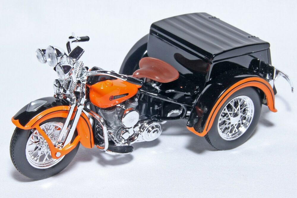 1 18 scale harley davidson 1947 servi car motorcycle diecast model by maisto ebay. Black Bedroom Furniture Sets. Home Design Ideas