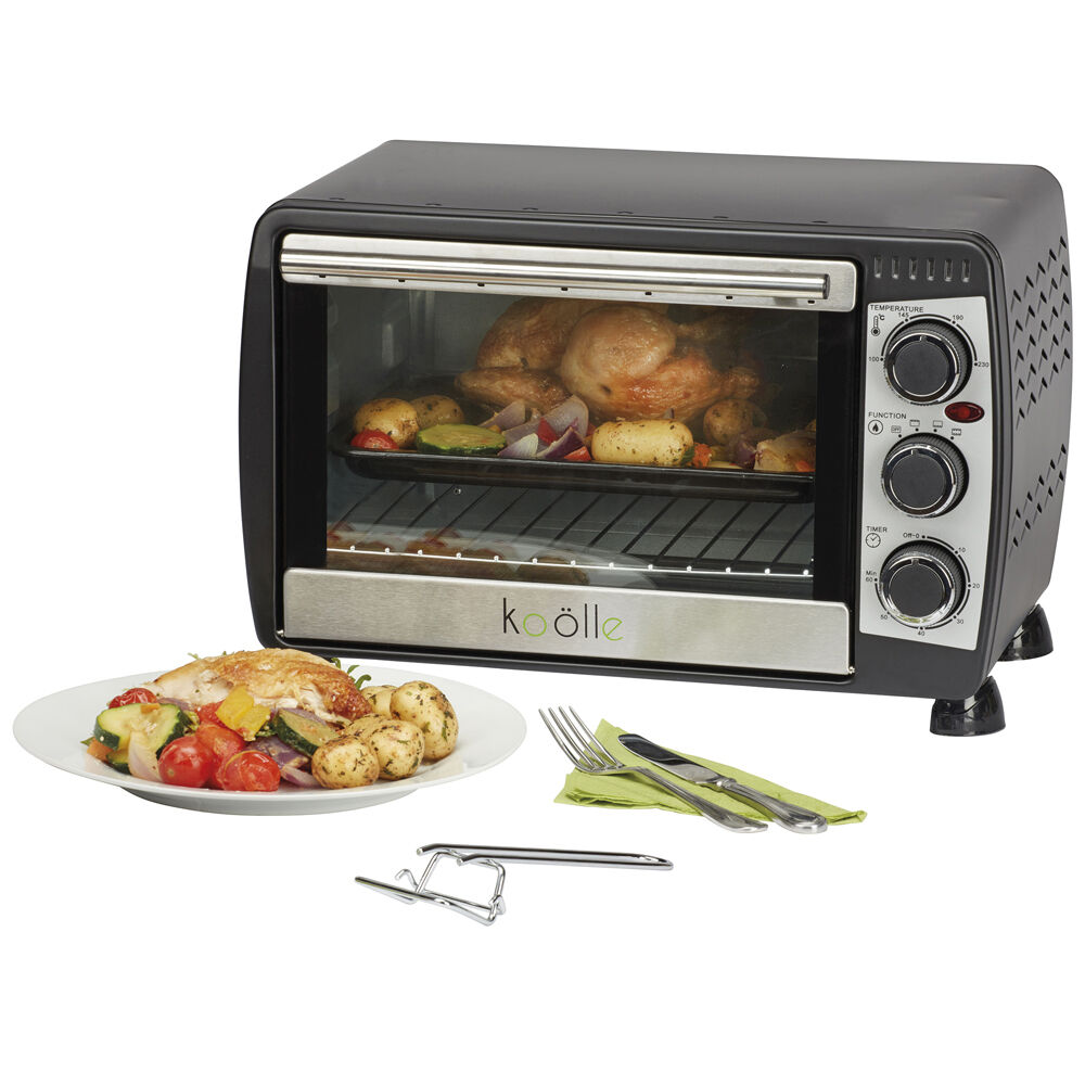 Table Top Ovens Electric ~ Koolle electric convection mini oven litre black