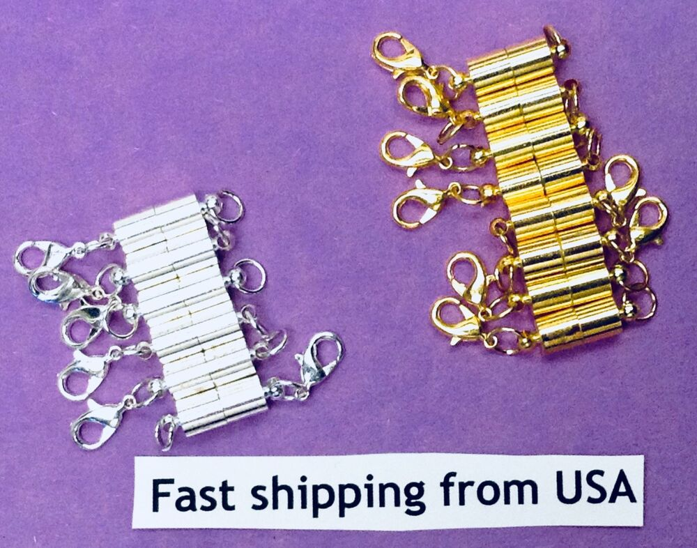Strong Magnetic Clasp Necklace Converter Extender Usa Gold