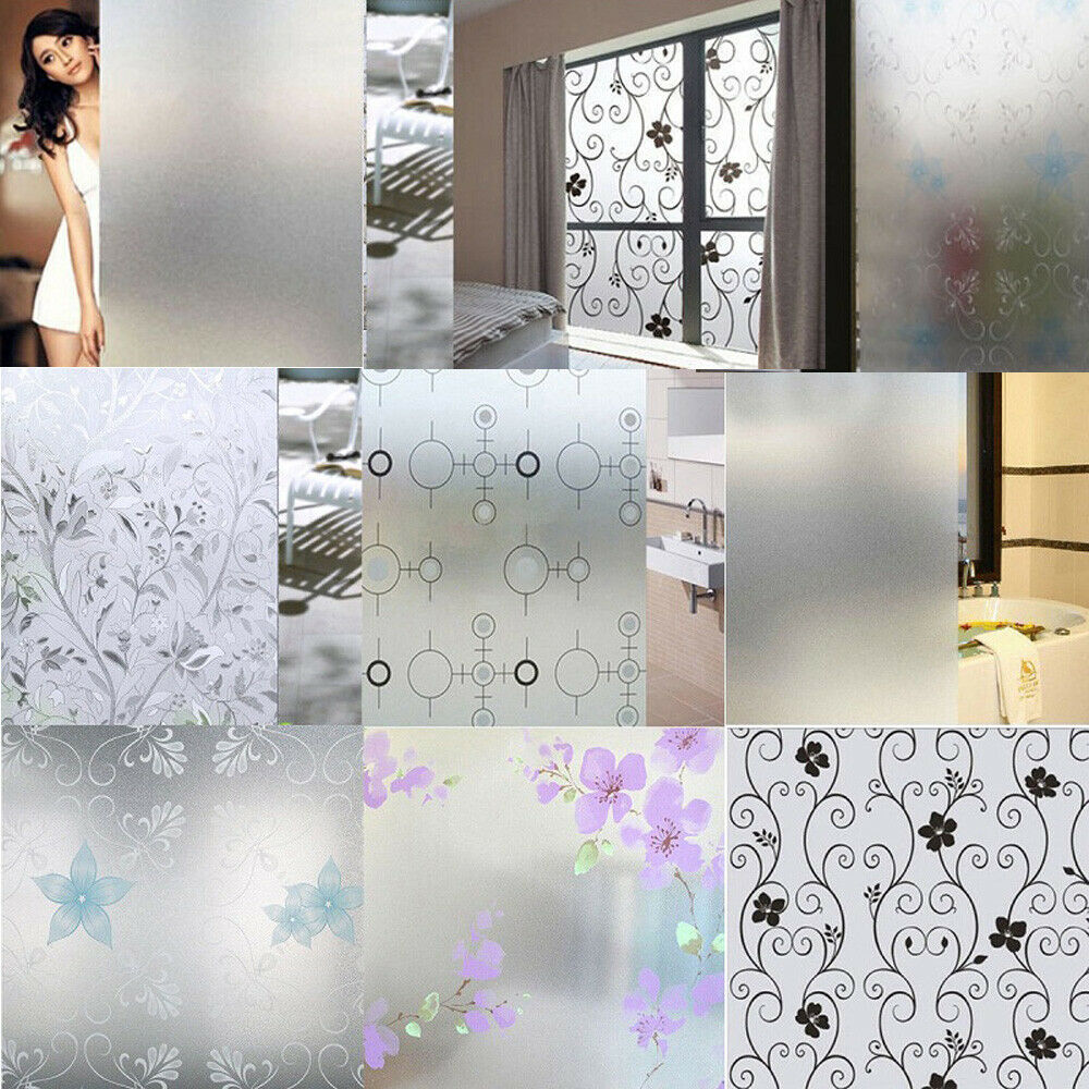 waterproof glass frosted bathroom window decal self