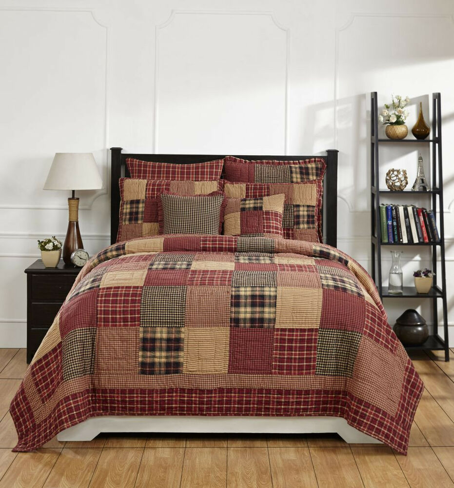 7pc Rutherford Queen Bed Quilt Set By Olivias Country