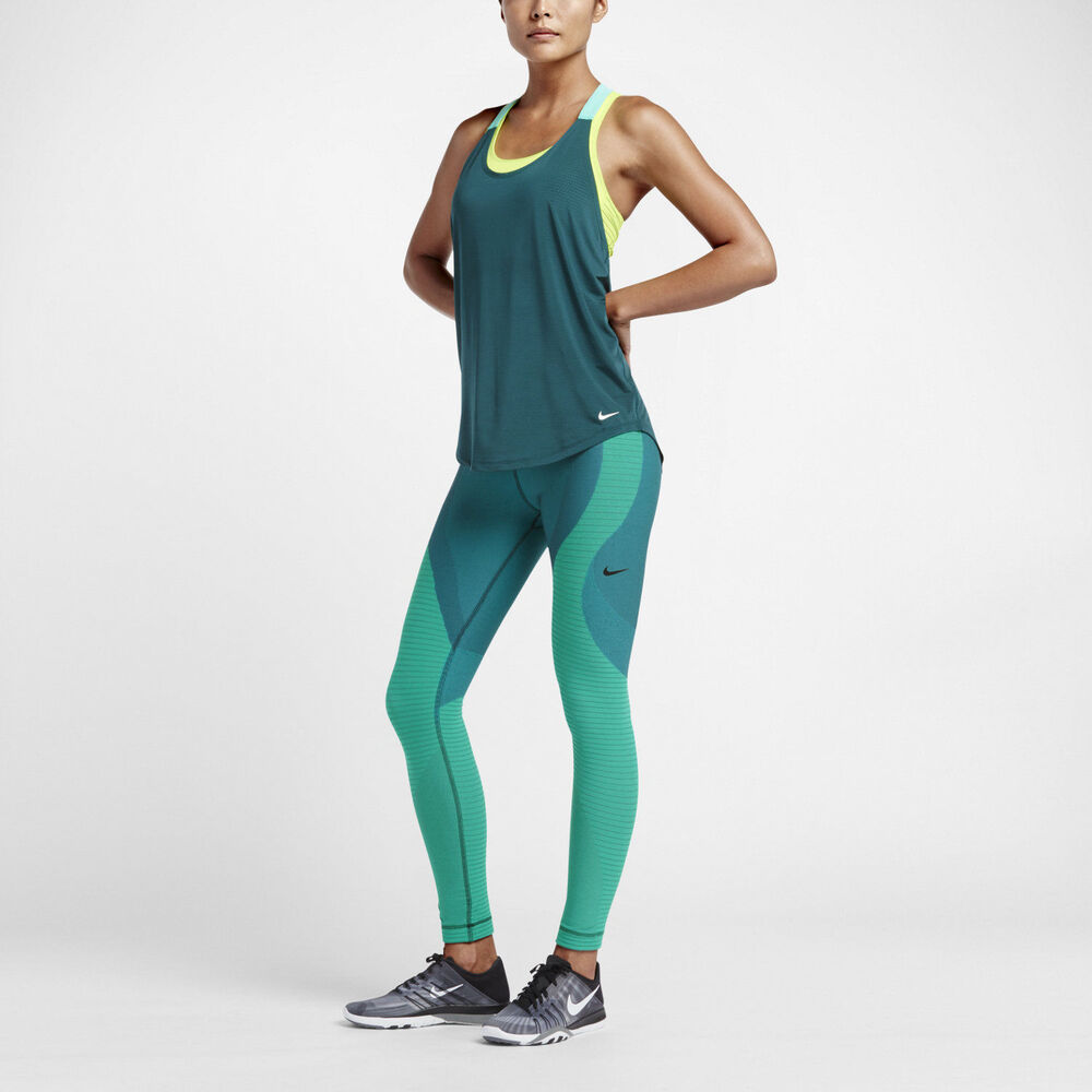 Nike Teal Yoga Zoned Sculpt Women's Training Tights 810965