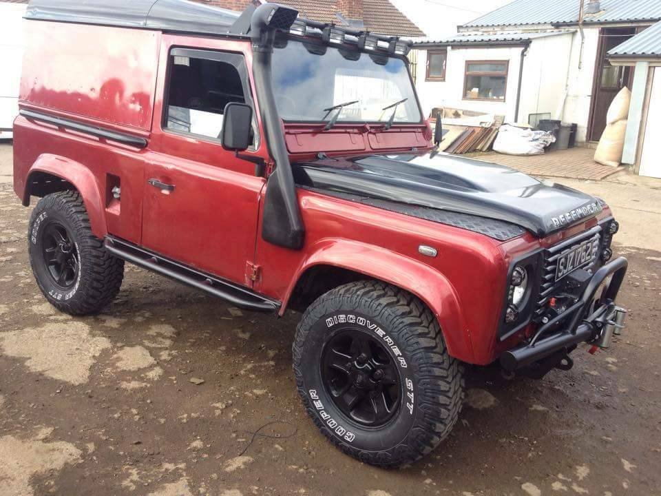 Land rover rock tree sliders defender 90 td5 puma off road for Garage land rover nancy