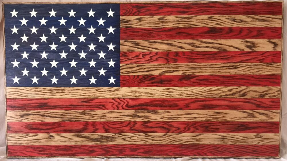 Rustic Wooden American Flag Charred/Burnt eBay