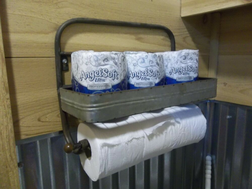 Metal Toilet Paper Holder Hold 6 Rolls Rustic Farmhouse
