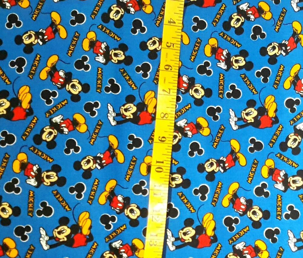 Mickey mouse blue new fabric 100 cotton kids babies for Kids novelty fabric