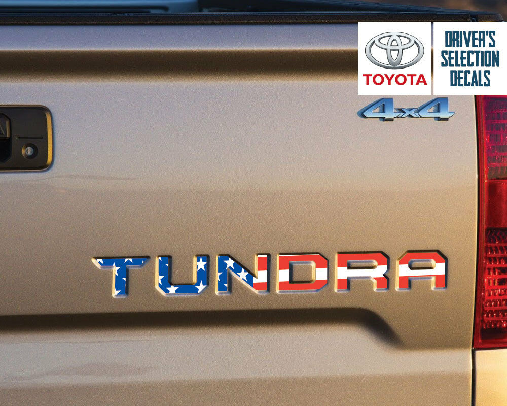 Toyota Tundra Tailgate Usa Flag Vinyl Letter Decals