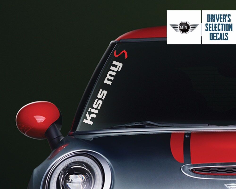 Mini Cooper Kiss My S Side Windshield Decal Windows Sticker Graphic Ebay