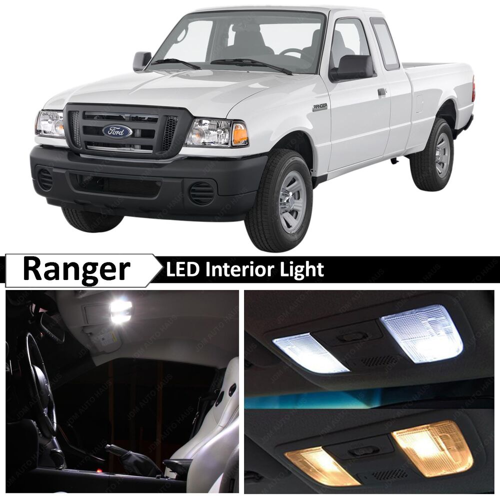 11x White Interior Led Lights Package Kit For 1998 2011 Ford Ranger Ebay