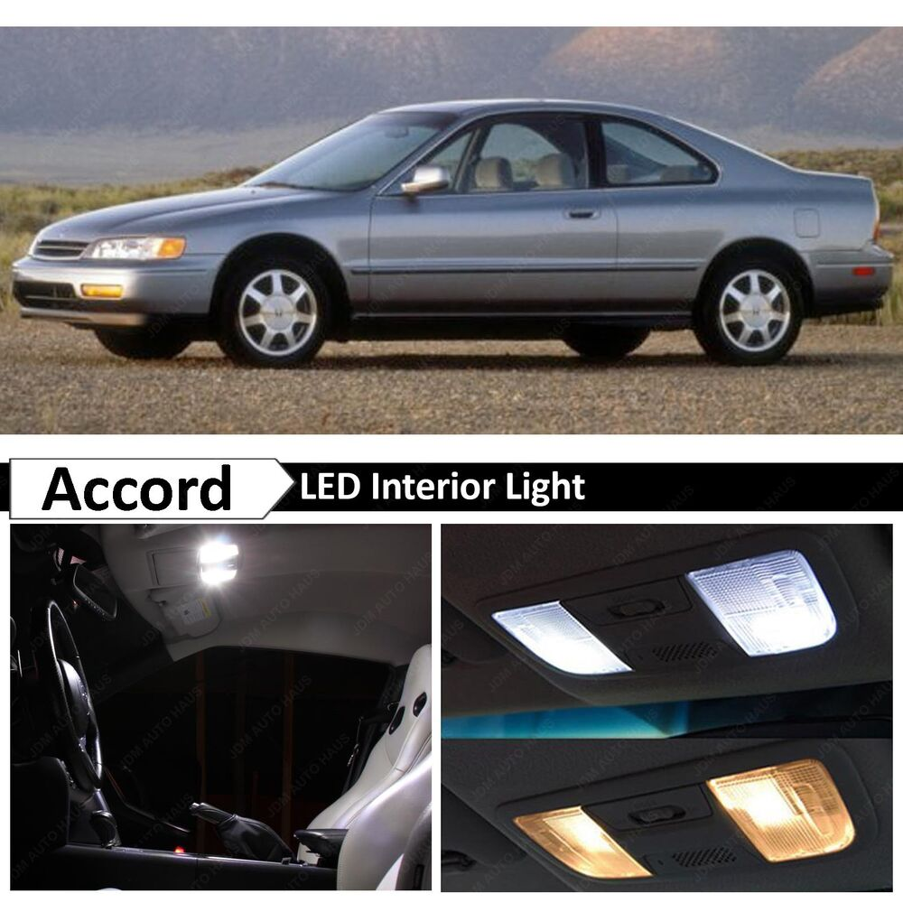 10x white led interior lights package kit for 1994 1997 honda accord tool ebay. Black Bedroom Furniture Sets. Home Design Ideas