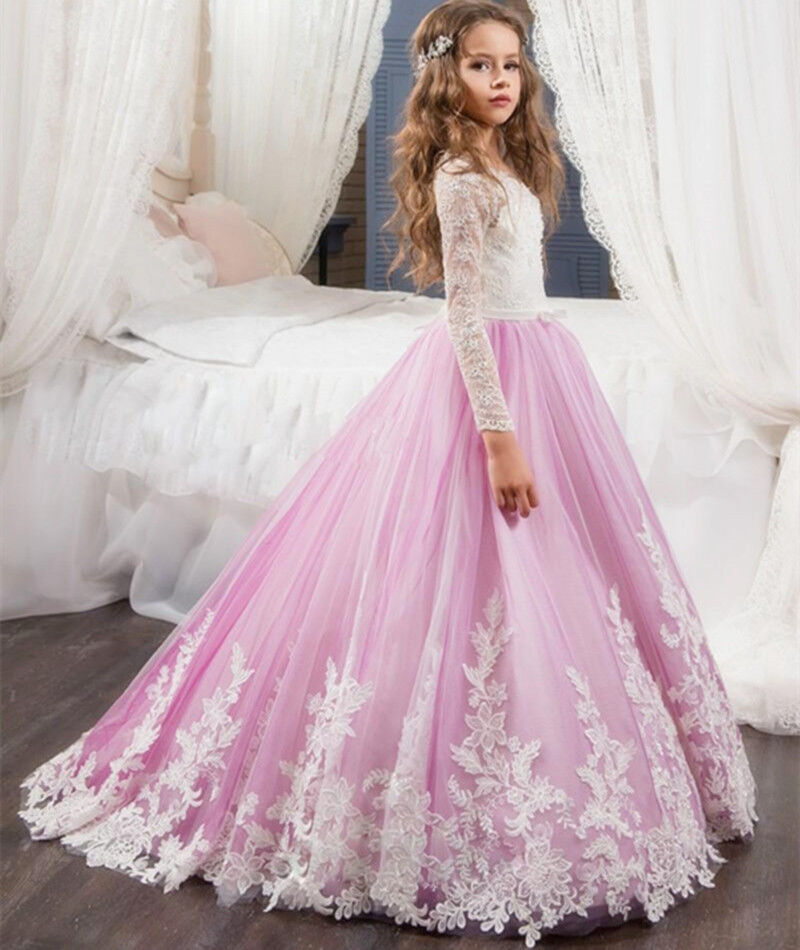 Children Gowns For Wedding: Kids Dresses For Weddings Pageant Ball Gowns Girls