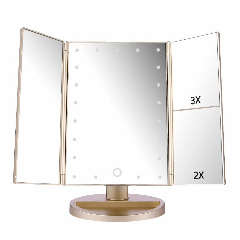 easehold 21 led light touch screen makeup mirror cosmetic tabletop vanity mirror ebay. Black Bedroom Furniture Sets. Home Design Ideas