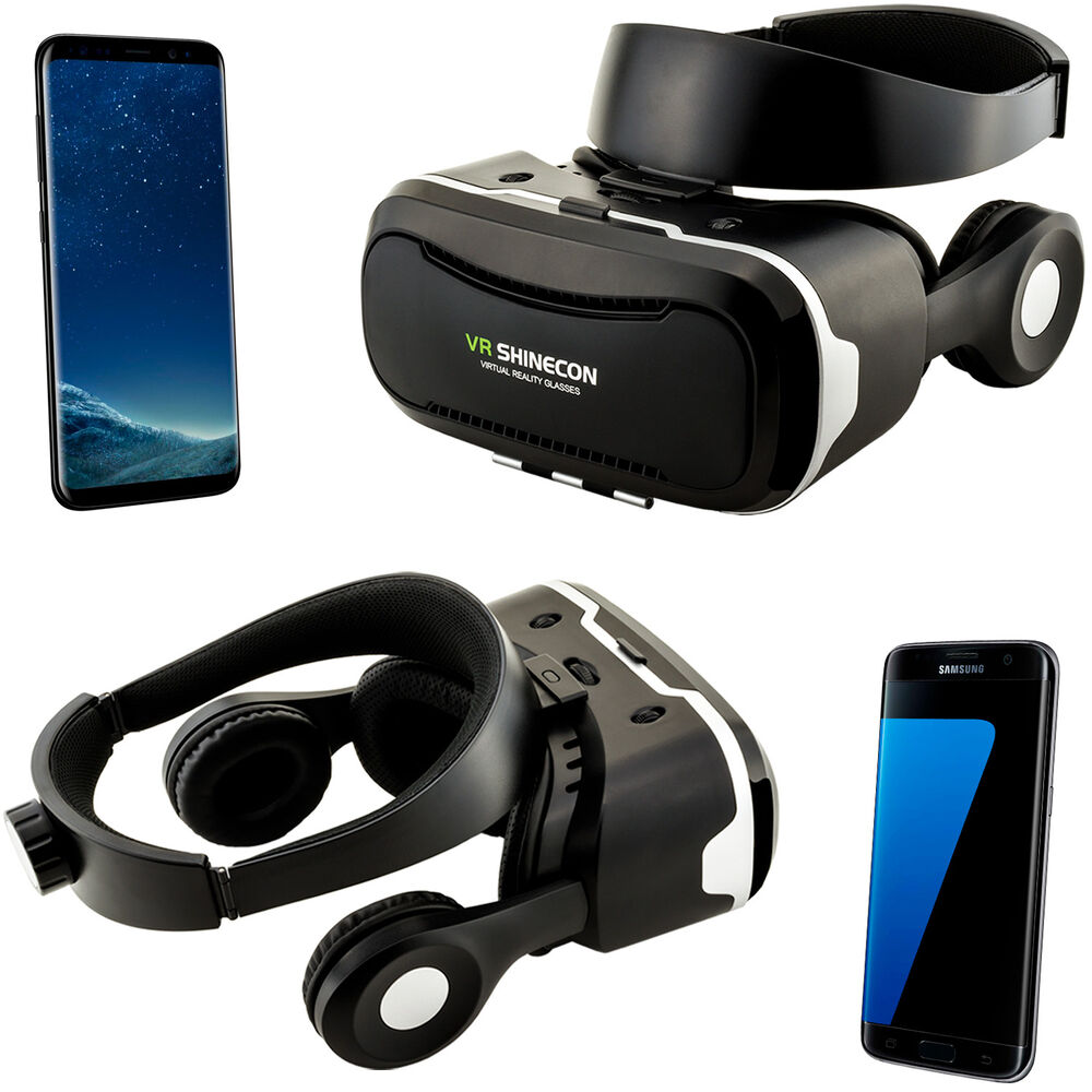 3d brille vr headset virtual reality f r samsung galaxy s5 mini s6 s7 edge s8 ebay. Black Bedroom Furniture Sets. Home Design Ideas