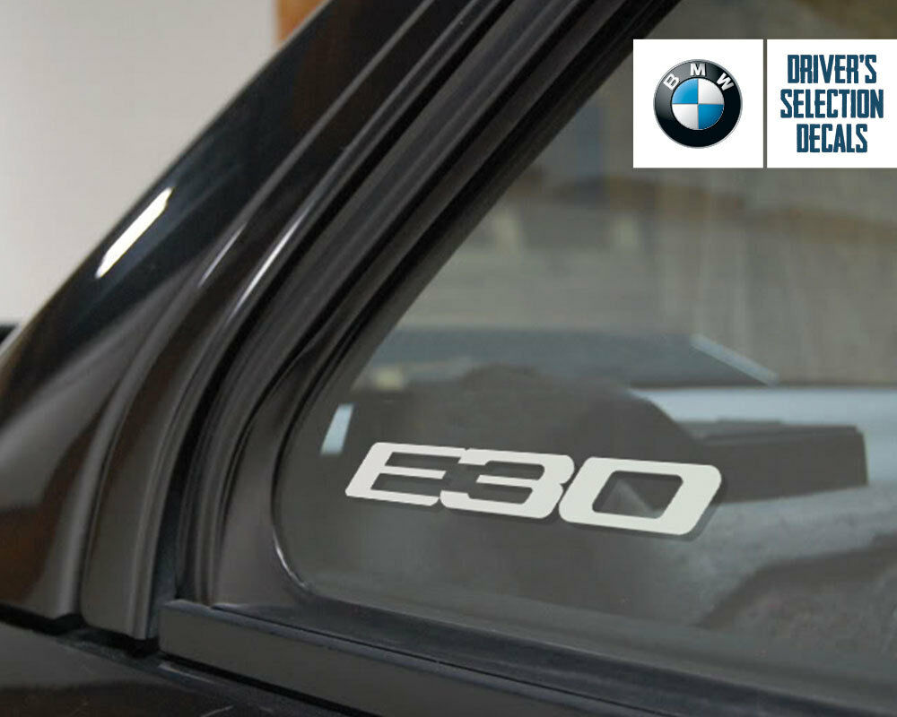 bmw e30 logo window sticker decal euro style ebay. Black Bedroom Furniture Sets. Home Design Ideas