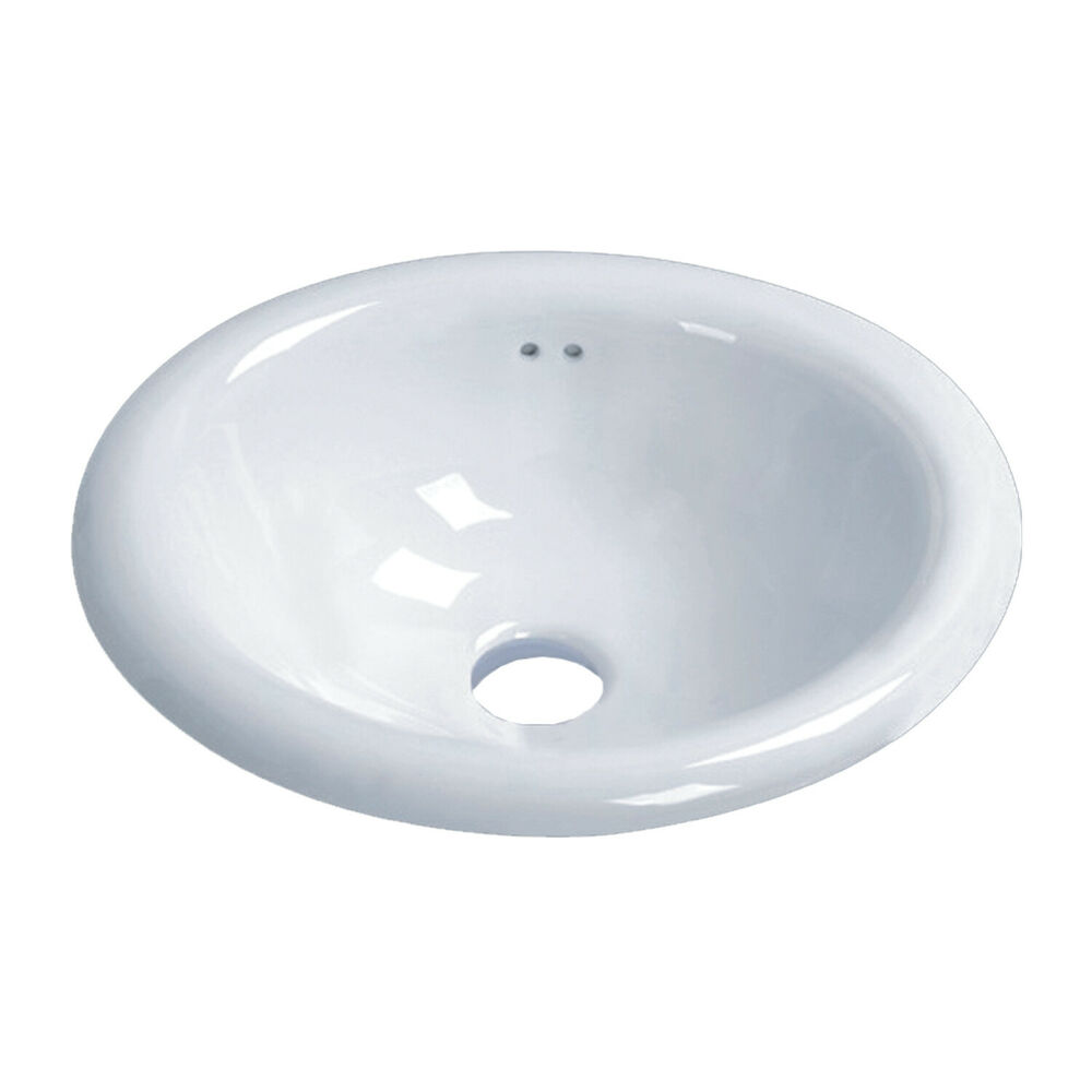 Lily Oval Shaped Drop In Bathroom Vanity Sink 17 1 2 X 15