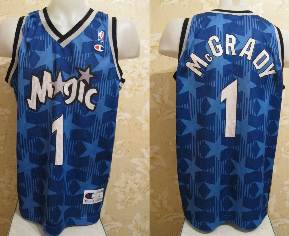 6de7f1bf9 VINTAGE Orlando Magic  1 Tracy McGrady Size L NBA Basketball shirt jersey  maglia