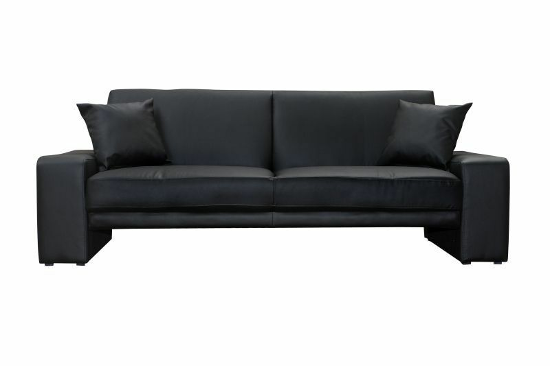 neu cuba schlafsofa kunstleder schwarz schlafcouch bettsofa sofa funktionssofa ebay. Black Bedroom Furniture Sets. Home Design Ideas