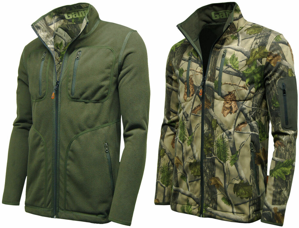 Game mens reversible camouflage hunting fishing jacket for Waterproof fishing jacket