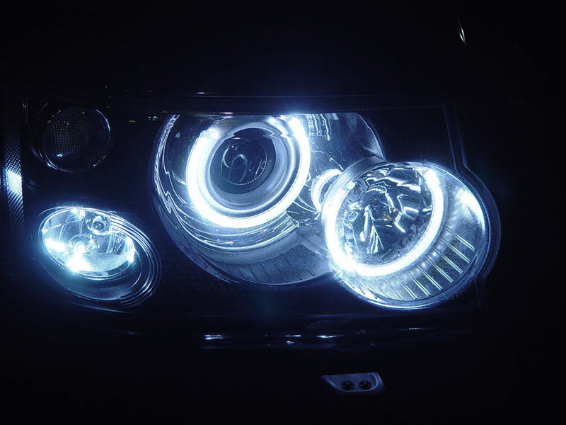 06 09 Land Rover Range Rover Sport Uhp Led Angel Halo Rings Ccfl Xenon Headlight Ebay