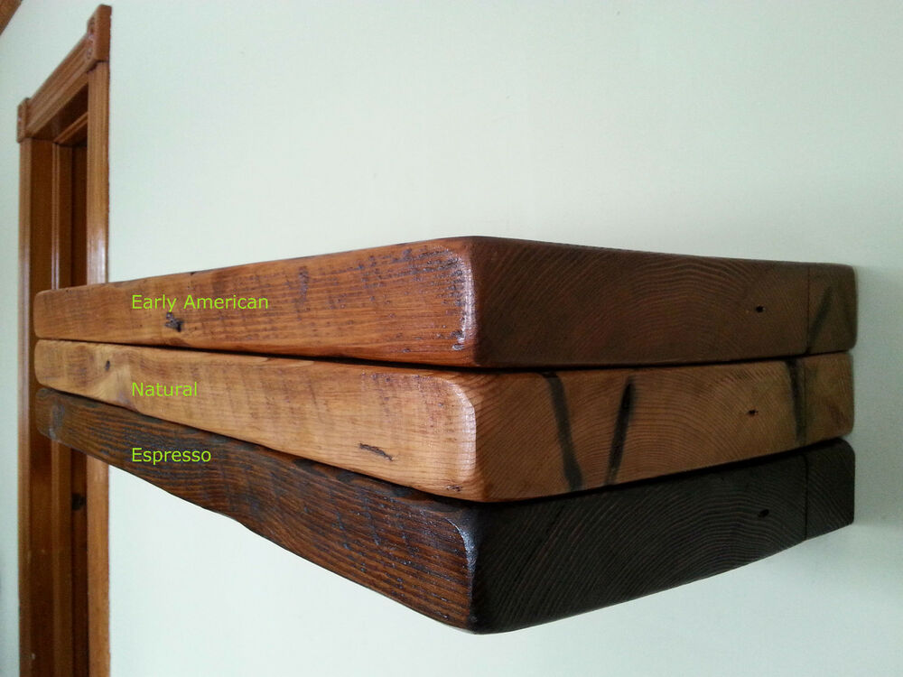 Floating shelves 1800 39 s rough cut solid barn wood with for Reclaimed wood decking