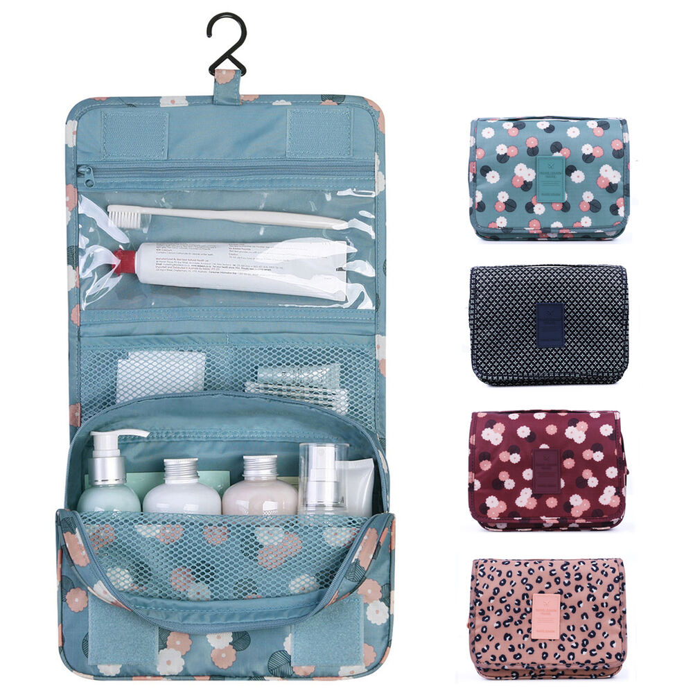 travel cosmetic makeup toiletry case wash organizer storage pouch hanging bag ebay. Black Bedroom Furniture Sets. Home Design Ideas