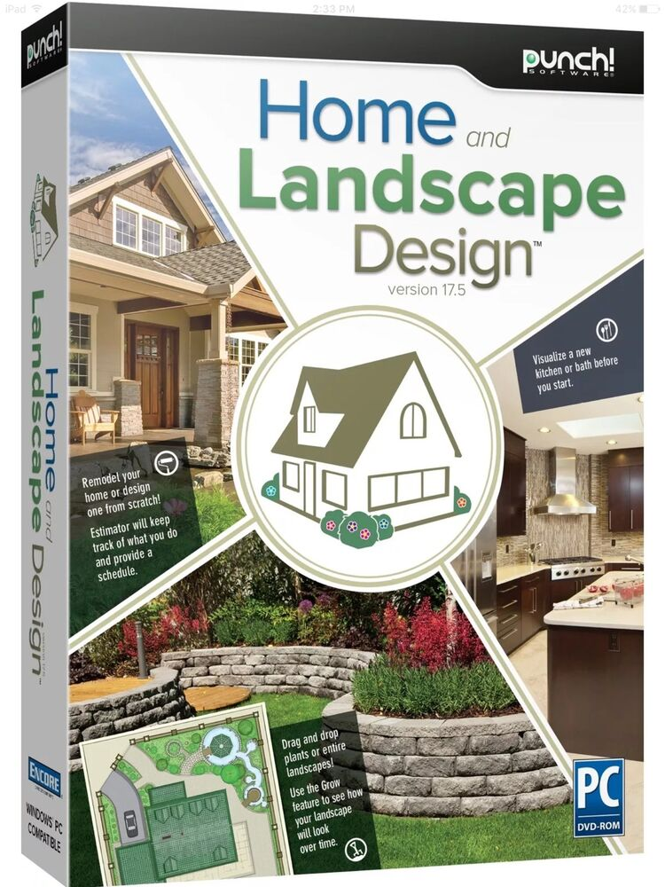 HOME LANDSCAPE DESIGN PC Software By Punch Version 175 Brand New