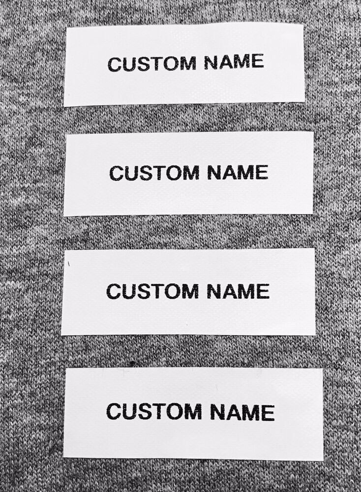 100 Custom Pre-Cut Iron/Sew on Daycare Clothing Name Tape ...