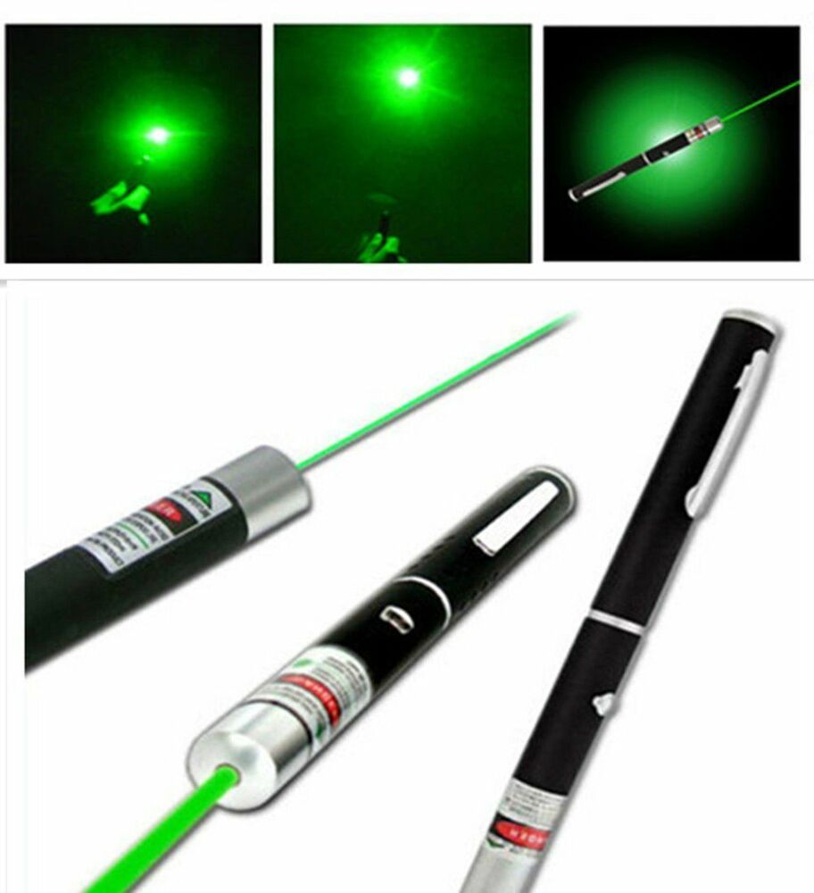 Powerful Green Laser Pointer Pen Visible Beam Light 5mw