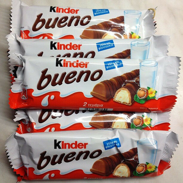 c06079e73efcc7 Details about 43 gr 2 Bars of Black KINDER BUENO Chocolate Wafers Milk    Hazelnut Kosher Food