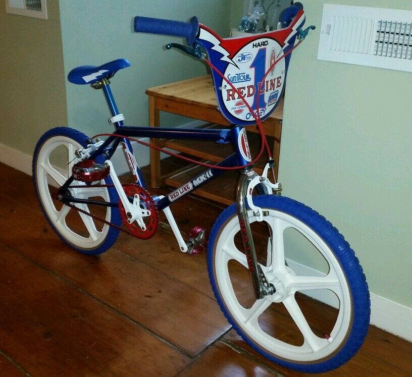 gorgeous redline mx 2 ii restored bmx old school show bike. Black Bedroom Furniture Sets. Home Design Ideas
