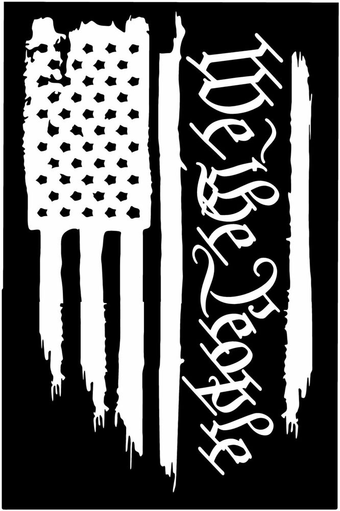 American Flag We The People Constitution Vinyl Die Cut