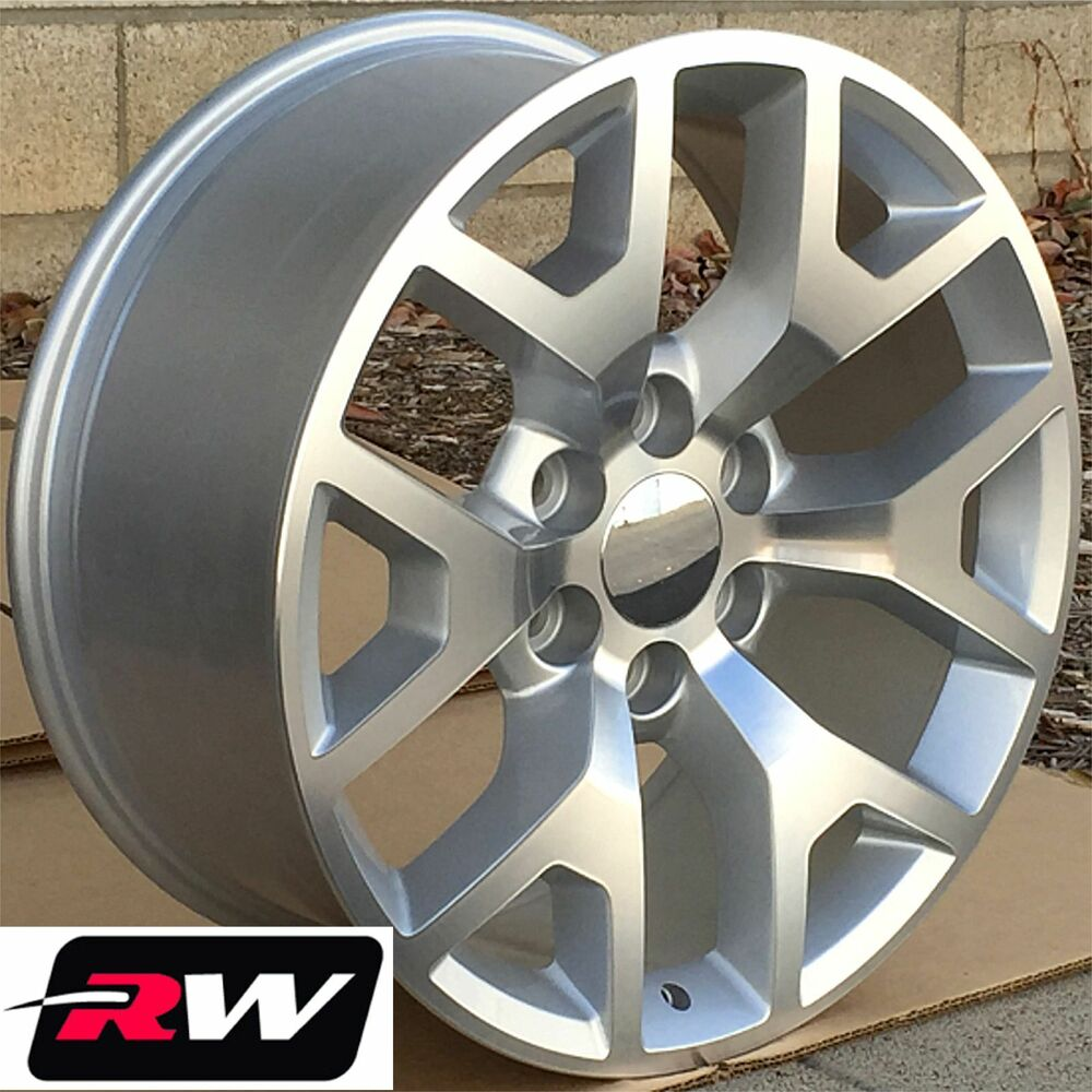 50 Inch Rims On Chevy : Chevy tahoe wheels quot inch silver machined gmc sierra