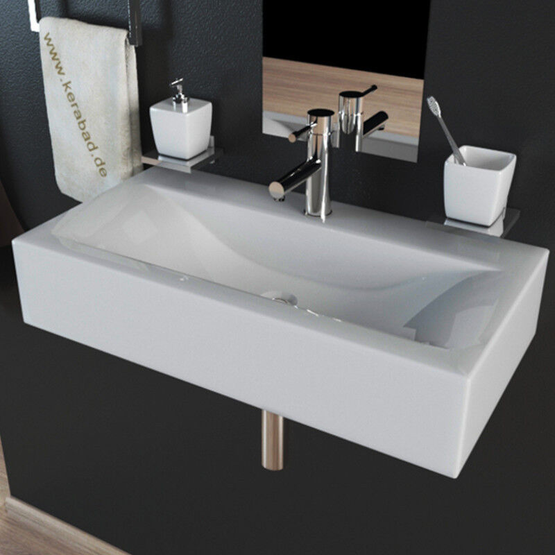 design keramik waschtisch waschbecken f r g ste wc aufsatzwaschbecken kbw153a ebay. Black Bedroom Furniture Sets. Home Design Ideas