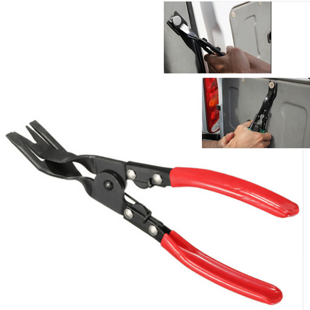red car truck door panel plier upholstery trim clip removal plier tool moulding ebay. Black Bedroom Furniture Sets. Home Design Ideas