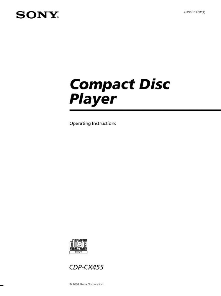 Sony cdp-cx455 400 disk mega storage cd changer player carousel.