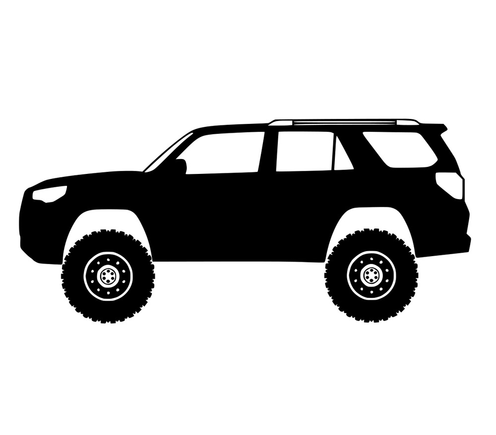 4runner toyota decal vinyl sticker gen clipart 5th stickers cool decals graphics fits tacoma tundra trd cars bumper graphic clipground