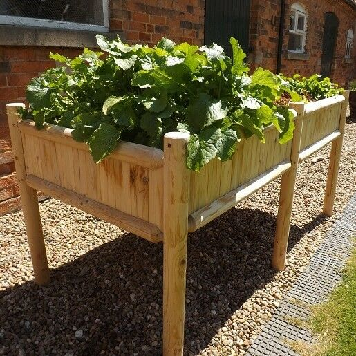 IBRAN Raised Bed Table Planter, 6 Foot Long, 3 Foot High