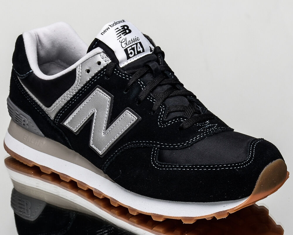 new balance 574 nb nb574 men lifestyle casual sneakers new black ml574 hrm ebay. Black Bedroom Furniture Sets. Home Design Ideas