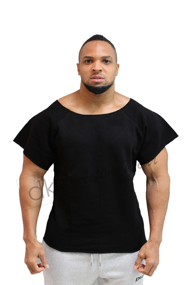men bodybuilding rag top workout gym clothing terry cotton