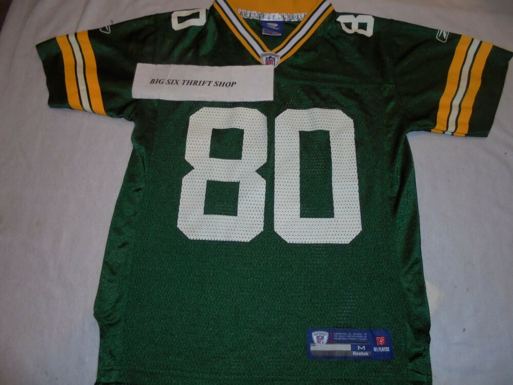 b92fcfc52 Donald Driver 80 Green Bay Packers Reebok NFL Jersey Medium 10-12 Youth