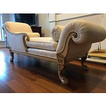 Custom Italian Chaise Lounge (fading sofa) - Excellent condition