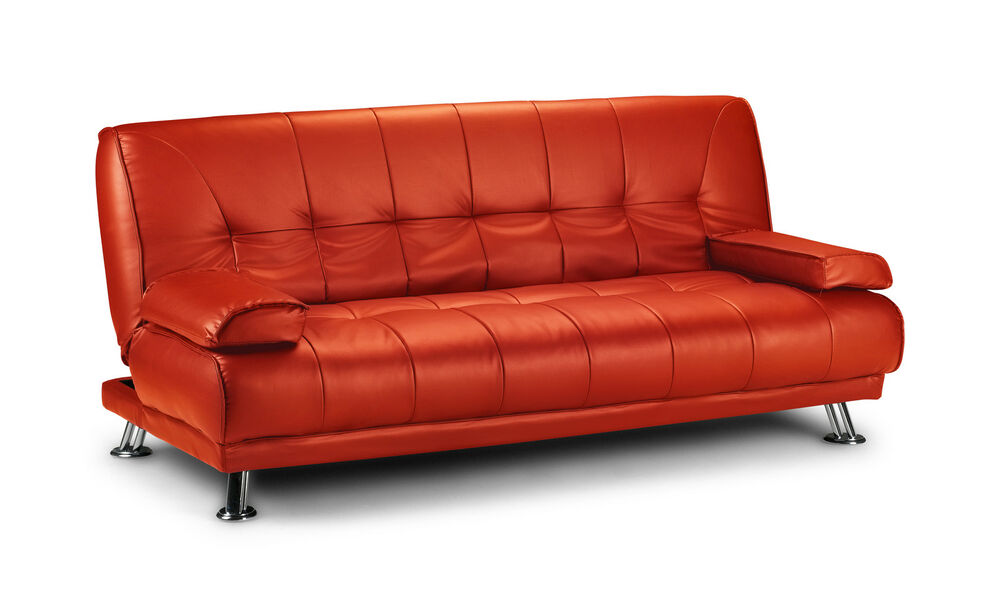 neu venedig schlafsofa kunstleder rot bett couch bettsofa sofa funktionssofa ebay. Black Bedroom Furniture Sets. Home Design Ideas