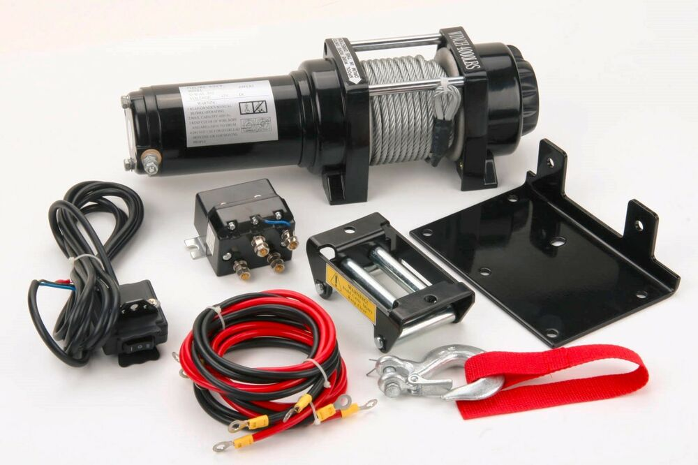 4000 Lb Winch Kit 12v Volt Atv Utv 4 Wheeler Trailer Plow
