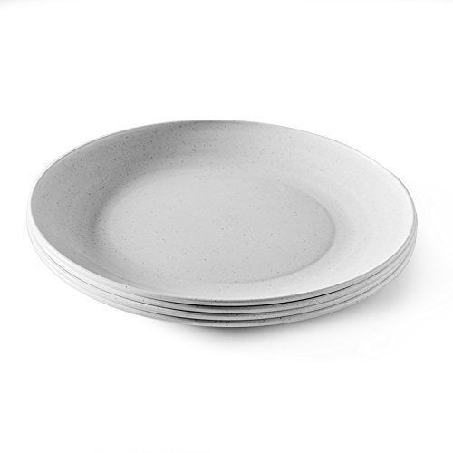 Nordic Ware Microwave Safe Plates 4 Piece Eco Friendly Dinner Plate Set 4 Ebay