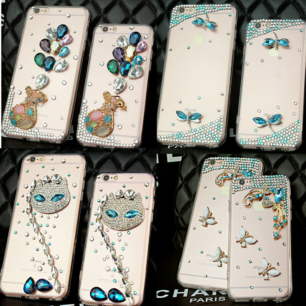 luxury fashion 3d new bling diamonds rhinestone crystal clear phone case cover ebay. Black Bedroom Furniture Sets. Home Design Ideas