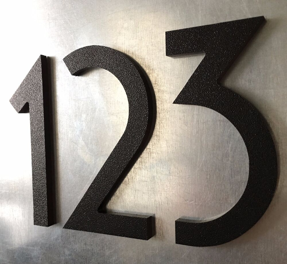 6 inch magnetic art deco house numbers for doors houses mailboxes garages ebay. Black Bedroom Furniture Sets. Home Design Ideas