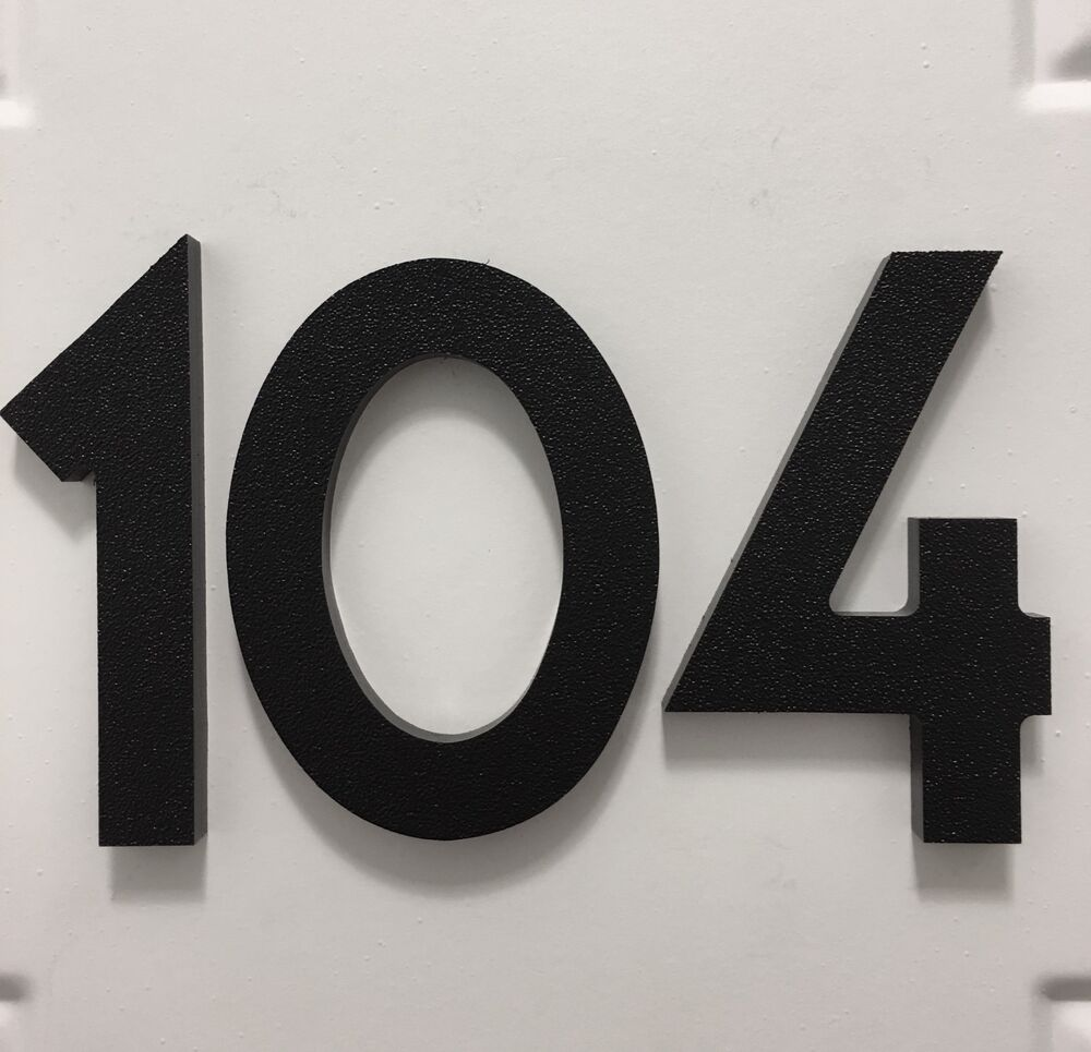 3 Inch Magnetic Art Deco House Numbers For Doors Houses Mailboxes Garages Ebay