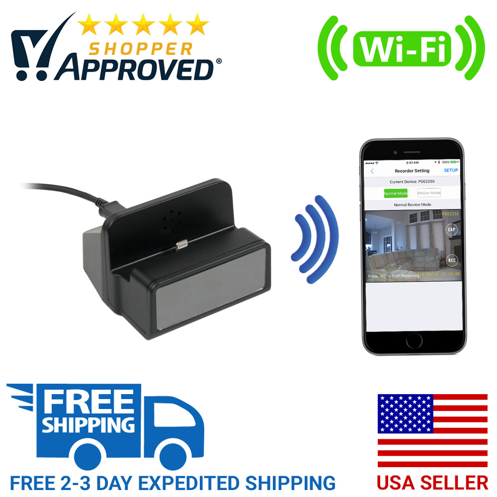 1080p Hd Wifi Live Streaming Android Charging Dock Hidden